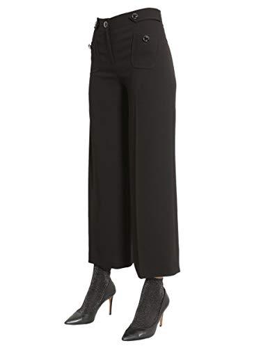 030461240555 Pantalón Mujer Boutique Poliéster Moschino Negro fqzEx1A