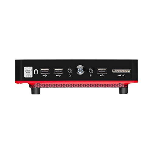 Mini Desktop Urban Red Core I3 4GB RAM 240GB SSD Linux - DT029, Multilaser