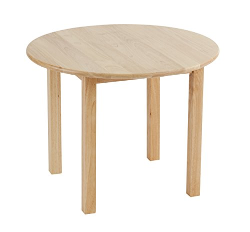Natural Hardwood Round Table - ECR4Kids Deluxe Hardwood Activity Play Table for Kids, Solid Wood Childrens Table for Playroom/Daycare/Preschool, 30 Inch Round, Natural Finish