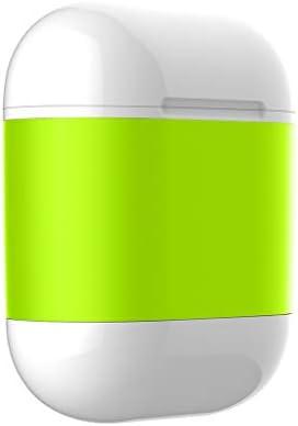 Rencaifeinimo2019最新版高速 滑り止め 耐久性が良い ファッションApple AirPods用 QIワイヤレス充電チャージャーヘッドセットスマートカバーケースボックス