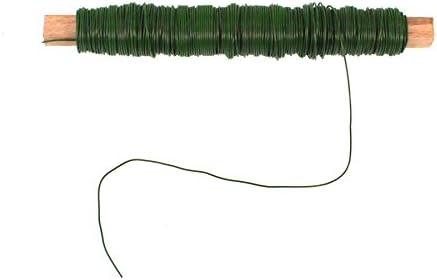 1 Rolle Wickeldraht gr/ün Blumendraht Bindedraht a 100g 0,65mm
