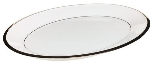 (Lenox Solitaire White Platinum-Banded Bone China 13 Inch Platter)