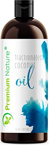 Fractionated Coconut Oil Massage Oil - Cold Pressed Pure MCT Oil for Essential Oils Mixing Dry Skin Moisturizer Natural Carrier Baby Oil for Face Hair & Body Therapeutic Packaging May Vary 16 oz ()