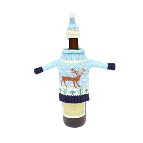 Pitcher Claus Santa - Gillberry 1Set Wine Hold Bottle Doll Cover Decoration Home Party Santa Claus Snowman Christmas (B)