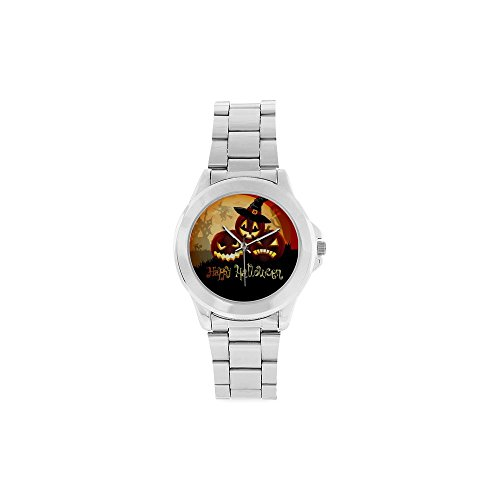Birthday Gifts Happy Halloween Unisex Stainless Steel Watch