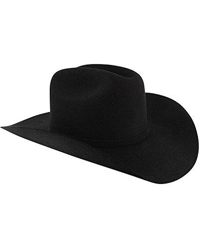 Stetson Men's Apache 4X Buffalo Felt Cowboy Hat Black 7 1/2