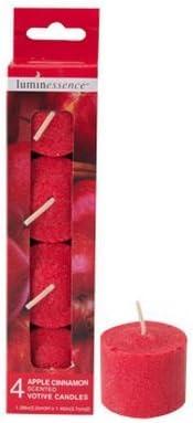 Amazon Com Apple Cinnamon Votive Candles Scented Votive Candle 4 Ct Luminessence Home Kitchen
