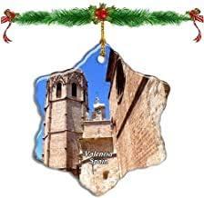 Kysd43Mill - Figura Decorativa para árbol de Navidad (Porcelana), diseño de Torre Miguelete de España: Amazon.es: Hogar