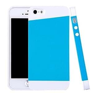 ZCL-Silicona híbridos y armaduras pc diseñar caso suave para el iphone 5 / 5s (colores surtidos)