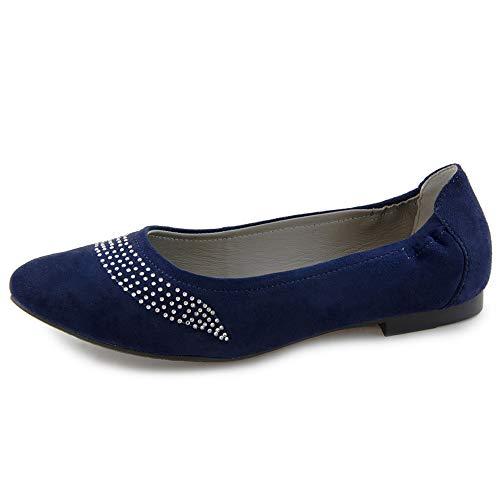 00741 Marc Ballerine Suede Kid 0af66w Blu Navy Donna Shoes Aurelia qYAwFxUta