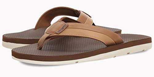 (Scott Hawaii Mens Size 13 Tan Vegan Leather Sandals   Reef Walking Flip Flops for Men   Neoprene Comfort Waterproof Shoes   Guarantee All Day Arch Support Palaole   Comfortable Slipper)