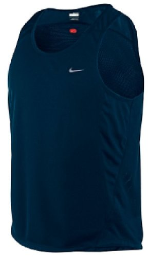 Dri Fit Mesh Singlet - Nike Dark Obsidian Dri-Fit Essentials Mesh Running Singlet (XL=48)