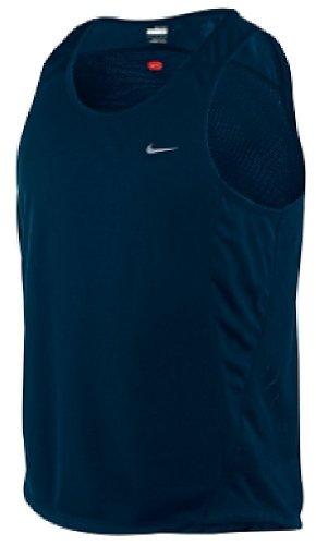 Nike Dark Obsidian Dri-Fit Essentials Mesh Running Singlet (XL=48) (Essentials Singlet Nike)