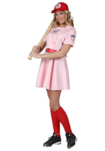 (Women's A League of Their Own Embroidered Dottie Costume Set Large)
