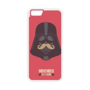 iPhone 6 Plus 5.5 Inch Cell Phone Case White Vader Moustache JSK739490