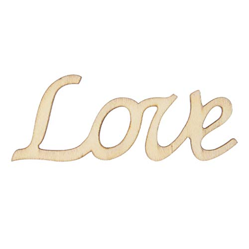 Tyjie Love Letter Word Wooden Hanging Sign Wall Decal Sticker Room Home Decor Ornament (Sweet Word Wooden)