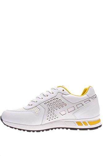 Nero Giardini hombre Sneaker P604070U-707 Sneaker de piel sintética y textil. blanco