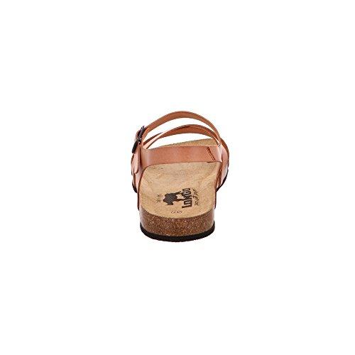 LONGO Damen 1006495 Braune Glattleder Sandalette Caffee