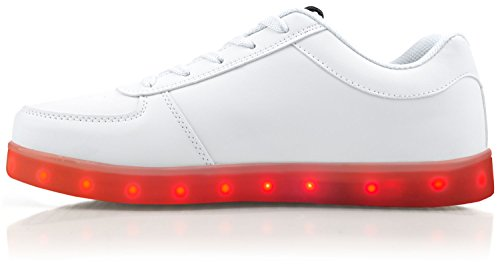 Light Up Shoes - Bolt Low Top, 6 B(M) US White by Electric Styles (Image #4)
