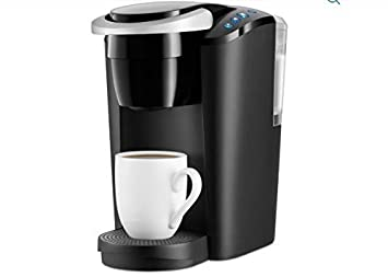 Keurig K-Compact Single Serve Coffee Brewer Maker in Black with the Slimmest Removable Reservoir features Auto Off and Simple Button Controls