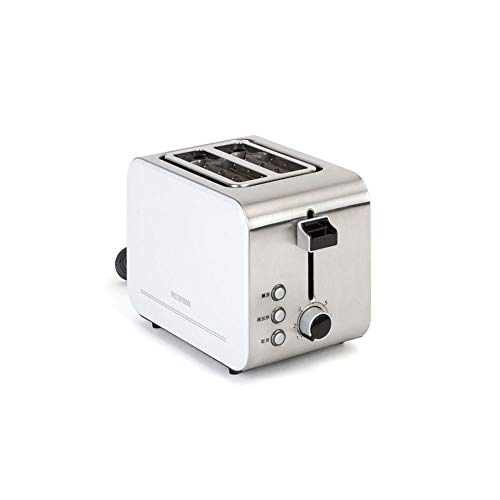 YL Semiautomatic Toaster 2 Slice, Toasters 2 Slices 3Cm Wide Slot, 7 Gear Adjustments Settings Have Removable Crumb Tray Push-Button Chassis Heating with Dust ()