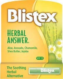 Blistex Herbal Answer Lip Protectant/Sunscreen, SPF 15, .15-Ounce Tubes by Blistex ()