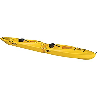 317501 SNAP KAYAKS Snap Scout Tandem Kayak, Yellow by Liberty Mountain Sports LLC