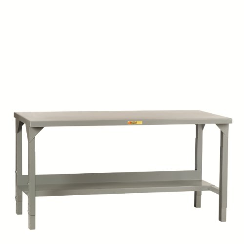 Little Giant WST2-2460-AH Welded Steel Workbench, 4500 lb. Load Capacity, 1 Half-Shelf, 27
