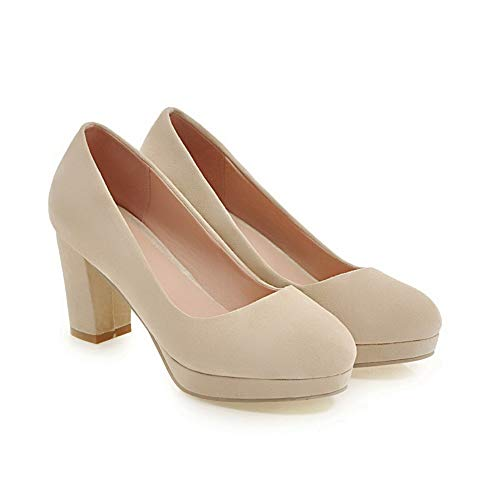 BalaMasa Plataforma Zapatos Mujer Beige uretano de APL10404 xqFwCP6