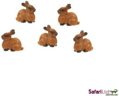 Hasen 5 Pieces Safari Ltd Good Luck Minis