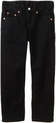 Levi's Boys' Relaxed Fit Jeans,BLACK MAGIC,16 Regular - Loose Fit Black Jeans
