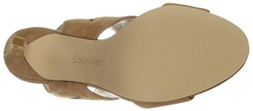Klein Almond Sandal Dress Women's Tan Calvin Safari BqZAqH