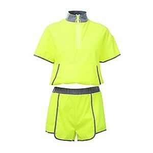 Yzibei Reflectante Color sólido Traje Deportivo Informal ...