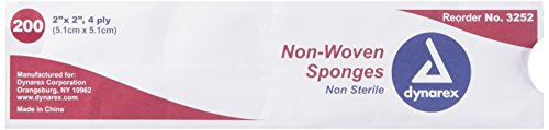 Non-Woven Sponge, N/S 4Ply - 2x2-200/Box