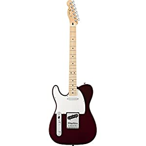 FENDER LEFT HANDED MEXICAN STANDARD TELECASTER MIDNIGHT WINE Electric guitars Electric Left handed