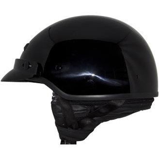 Banos Online.Zox Unisex Adult Banos Gloss Black Half Helmet Z88 11004