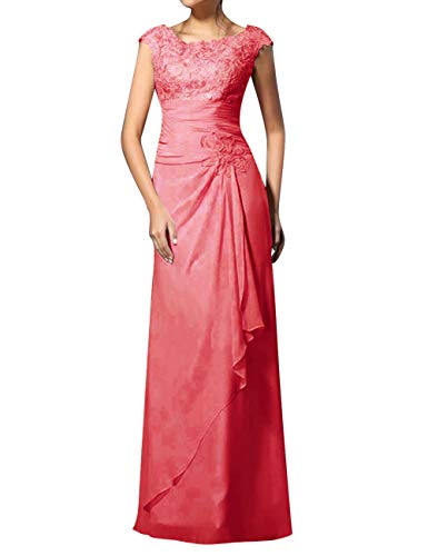 Mother The Bride Dresses Long Evening Dresses Formal Party Dress Coral 18W