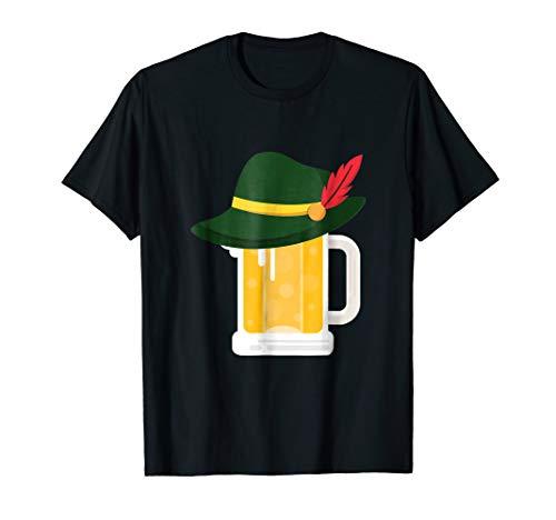 Beer With German Alpine Hat Funny Oktoberfest 2018 T Shirt