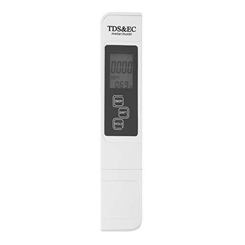 HibiscusElla 3 In 1 Multifunctional TDS EC PPM Water Quality Meter Tester Pen LCD Display 0-5000ppm TDS/&EC Tester Pen