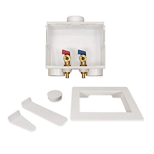 Eastman 60245 Washing Machine Outlet Box with Double Drain, 1/2-inch Crimp PEX ()
