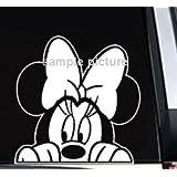 """Minnie Mouse Peeking Car Truck Window Sticker Decal -SMMP005- 5""""L"""