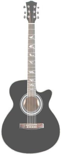 401E BK-W-Guitarra Martin Smith E-acústica con cutaway negro ...