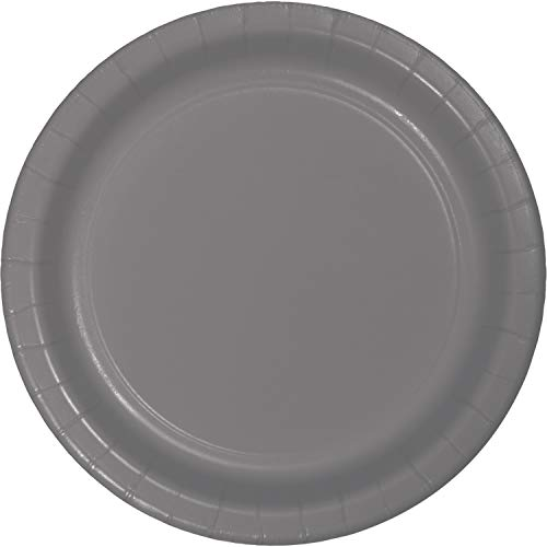 Creative Converting 339639 DINNER PLATE, 9 in, 24 ct, Gray -