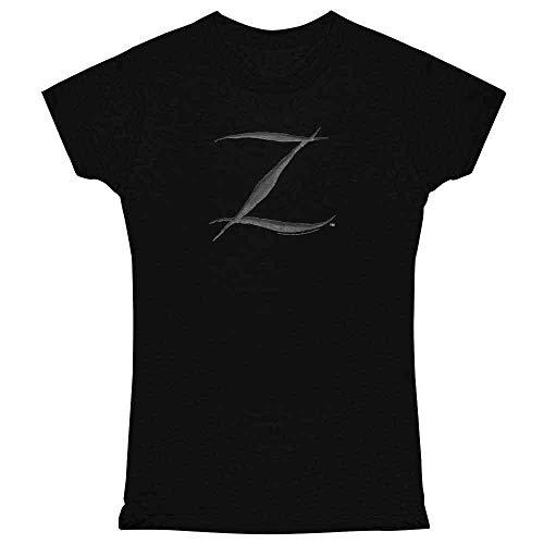 Pop Threads Zorro Big Cut Z Halloween Costume Black M Womens Tee -