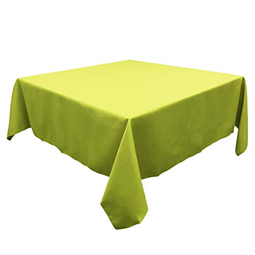 TableLinensforLess Polyester Square Tablecloth, 60 Inch Square, (Green Apple) ()