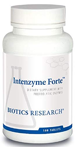 Biotics Research - Intenzyme Forte Proteolytic Enzyme Supplement - 100 Tablets