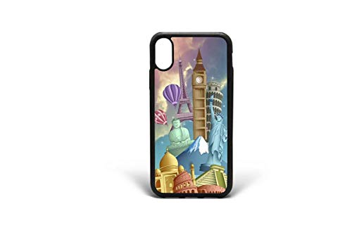 Kaidan iPhone X XR World Attractions Case 6/6s Plus London iPhone 7 8 Plus XS Max 5/5s/SE Eiffel Tower Paris Statue of Liberty NYC S10 Lite Samsung Galaxy Note 9 Coliseum Rome Italy S9 S8 Plus 2DaO89