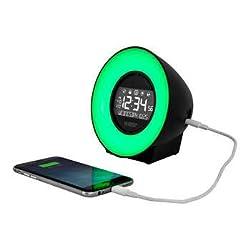 La Crosse Mood Light Color LCD Alarm Clock