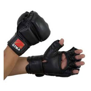 GTMA PADDED LEATHER GRAPPLING GLOVE - - Leather Gtma