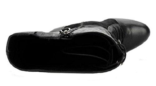 11sunshop Stiefel Modell Lily Leder Di Design Hgilliane In 33-44 Nero